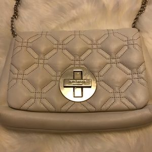 Kate Spate Cream Quilted Purse